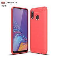Carbon gelový obal na mobil Samsung Galaxy A30 / A20 - červený