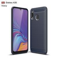 Carbon gelový obal na mobil Samsung Galaxy A30 / A20 - modrý
