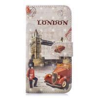 Light PU kožené peněženkové pouzdro na mobil Samsung Galaxy A20/A30 - věžový most v Londýně