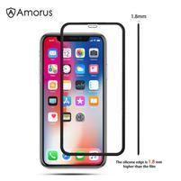 AMS celoplošné tvrzené sklo se silikonovým okrajem na mobil Apple iPhone 11 Pro 5.8 (2019) - černé