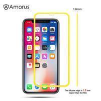 AMS celoplošné tvrzené sklo se silikonovým okrajem na mobil Apple iPhone 11 Pro 5.8 (2019) - žluté
