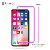 AMS celoplošné tvrzené sklo se silikonovým okrajem na mobil Apple iPhone 11 Pro 5.8 (2019) - rose