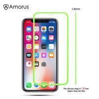 AMS celoplošné tvrzené sklo se silikonovým okrajem na mobil Apple iPhone 11 Pro 5.8 (2019) - zelené