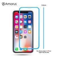 AMS celoplošné tvrzené sklo se silikonovým okrajem na mobil Apple iPhone 11 Pro 5.8 (2019) - modré