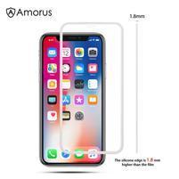 AMS celoplošné tvrzené sklo se silikonovým okrajem na mobil Apple iPhone 11 Pro 5.8 (2019) - bílé