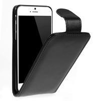 PU kožené flipové pouzdro na iPhone 6, 4.7 - černé