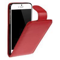 PU kožené flipové pouzdro na iPhone 6, 4.7 - červené