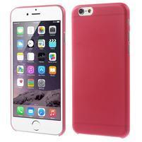 Ultra slim 0.3 mm plastové pouzdro na iPhone 6, 4.7  - červené