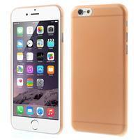 Ultra slim 0.3 mm plastové pouzdro na iPhone 6, 4.7  - oranžové