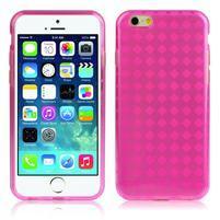 Gelové koskované pouzdro na iPhone 6, 4.7 - růžové