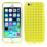 Gelové kostkované pouzdro na iPhone 6, 4.7 - žluté