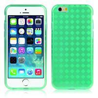 Gelové kostkované pouzdro na iPhone 6, 4.7 - zelené