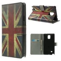 Peněženkové pouzdro na Samsung Galaxy Note 4- UK vlajka