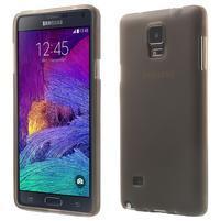 Gelové pouzdro na Samsung Galaxy Note 4- šedé