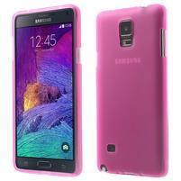 Gelové pouzdro na Samsung Galaxy Note 4- růžové