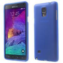Gelové pouzdro na Samsung Galaxy Note 4- modré