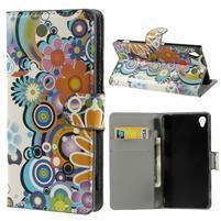 Peněženkové pouzdro na Sony Xperia Z3 D6603 - barevné vzory