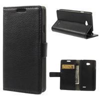 Peněženkové pouzdro na LG L65 D280 - černé