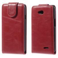 Flipové pouzdro na LG L65 D280 - červené