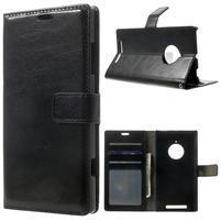 Peněženkové pouzdro na Nokia Lumia 830 - černé