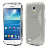 Gelové S-line pouzdro pro Samsung Galaxy S4 mini i9190, i9192, GT-i9195 - šedé