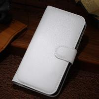 Peněženkové pouzdro na Alcatel One Touch Idol Alpha 6032 A - bílé