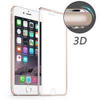 Hat celopološné fixační tvrzené sklo s 3D rohy na iPhone 7 - růžovozlaté lemy