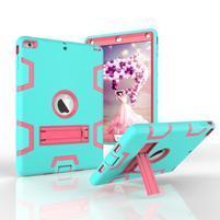 Hybridní odolný obal na iPad Air - cyan/rose