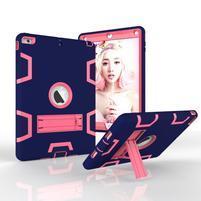 Hybridní odolný obal na iPad Air - tmavěmodrý/ rose
