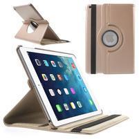 PU kožené rotační pouzdro na iPad Air - rosegold