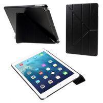 Origami PU kožené pouzdro na iPad Air - černé