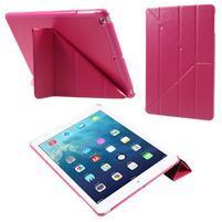 Origami PU kožené pouzdro na iPad Air - rose