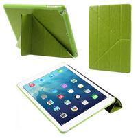 Origami PU kožené pouzdro na iPad Air - zelené
