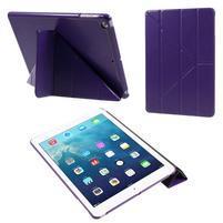 Origami PU kožené pouzdro na iPad Air - fialové