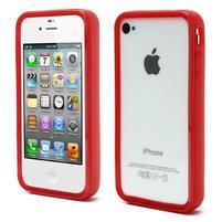 Bumper style gelový rámeček na iPhone 4 a iPhone 4s - červený
