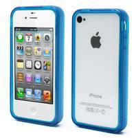Bumper style gelový rámeček na iPhone 4 a iPhone 4s - modrý