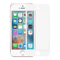 Celoplošné tvrzené sklo na iPhone 5 a 5S - bílý lem