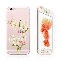 Zdobené přední a zadní tvrzené sklo na iPhone 6 a 6s - lilie
