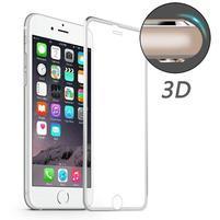PR9X celoplošné tvrzené sklo na displej iPhone 6 Plus a 6s Plus - stříbrný lem