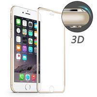 PR9X celoplošné tvrzené sklo na displej iPhone 6 Plus a 6s Plus - zlatý lem