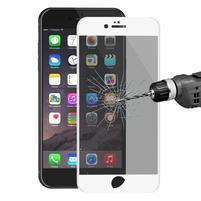 Cover rámované celoplošné tvrzené sklo na iPhone 6s Plus a 6 Plus - bílý lem