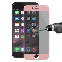 Cover rámované celoplošné tvrzené sklo na iPhone 6s Plus a 6 Plus - růžovozlatý lem