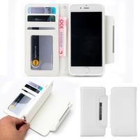 Wally multifunkčí peněženkové pouzdro na iPhone 7 a 8 - bílé