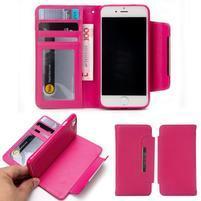 Wally multifunkčí peněženkové pouzdro na iPhone 7 a 8 - rose