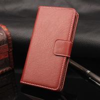 Leathy PU kožené peněženkové pouzdro na iPhone 7 a 8 - hnědé