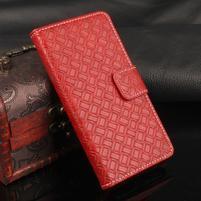 Texture PU kožené pouzdro na iPhone 7 a 8 - červené