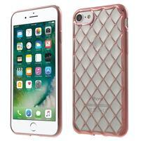 Plate 3D gelový obal na iPhone 8 a iPhone 7 - rosegold