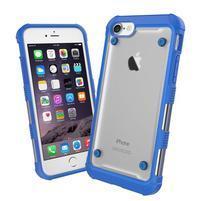 Bumper style hybridní obal na iPhone 7 a iPhone 8 - modrý