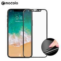 MLC celoplošné tvrzené sklo na iPhone X - černý lem