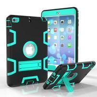 Full hybridní odolný obal na iPad mini 3 / iPad mini 2 / iPad mini - cyan